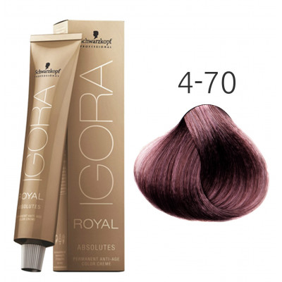 Краска для волос Schwarzkopf Igora Royal Absolutes 4-70 Средний...