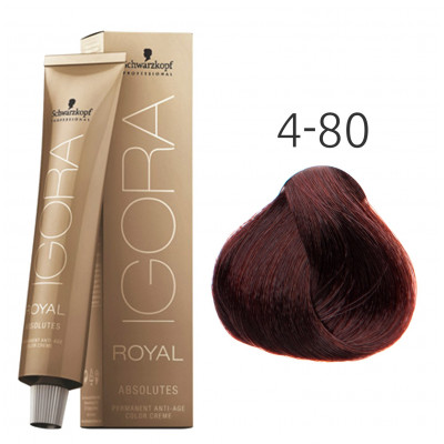 Краска для волос Schwarzkopf Igora Royal Absolutes 4-80 Средний...