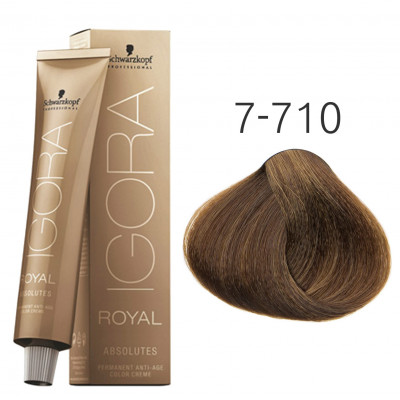 Краска для волос Schwarzkopf Igora Royal Absolutes 7-710 Средний...